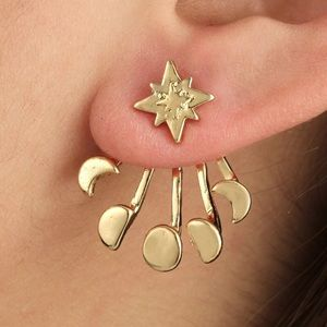 Jewelry - 4 for $25/Moon Phase Studs
